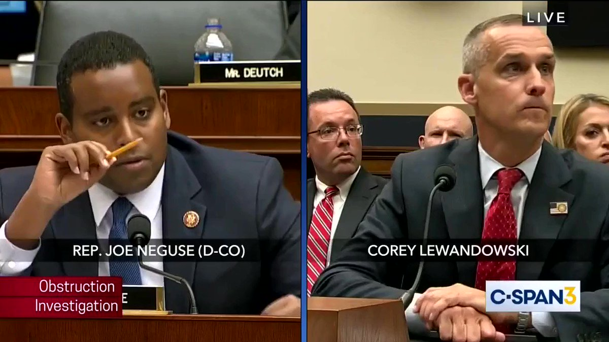 Corey Lewandowski refused to answer whether there was other notes he took that he removed from the White House and refused to hand over to the Special Counsel.  This is a #CoverUp https://t.co/Ip9bbE2yOY