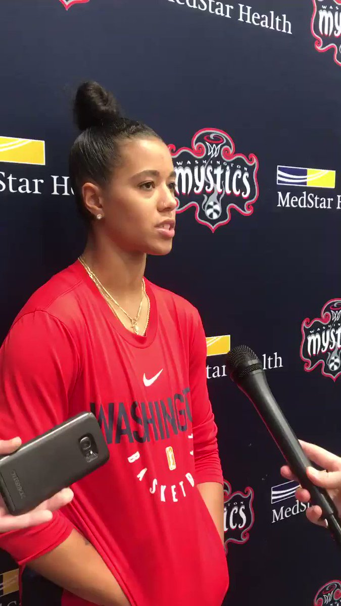"""Toya is our unsung hero""   Post @WashMystics' practice sound with @T_Cloud4 🗣"