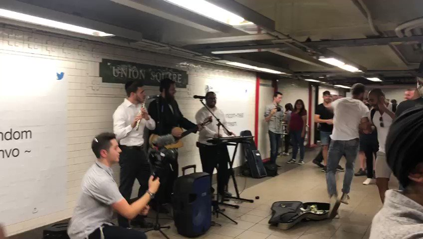 This is so awesome! Union Square Station - Am Yisrael Chai!