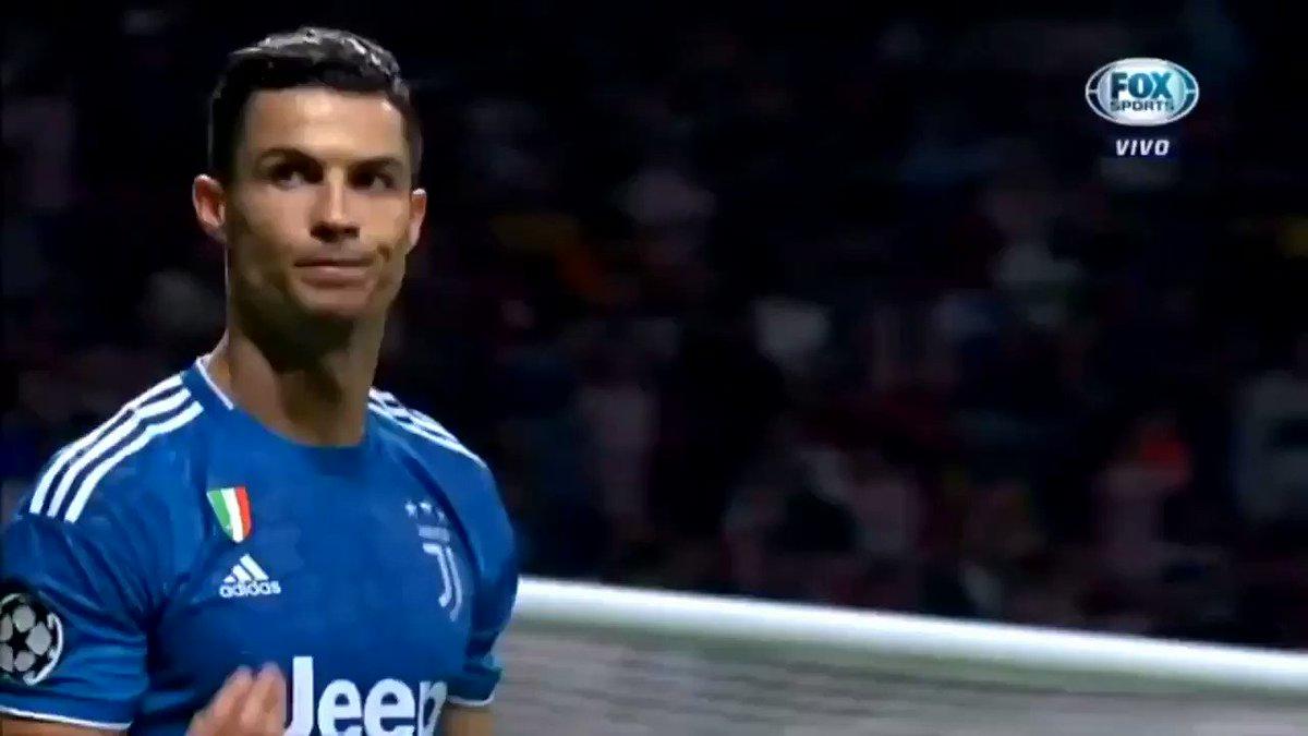 El gesto de Cristiano Ronaldo a la afición del Atlético tras casi marcarles en el último minuto. 🤫