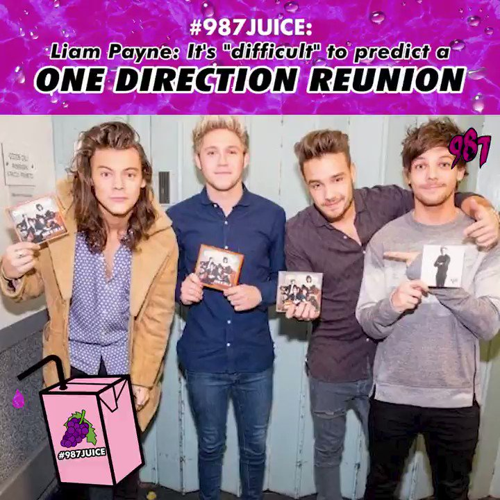 In a recent interview, @LiamPayne noted that he hasnt spoken his 1D bandmate @Harry_Styles in a while and added that a @onedirection reunion might be difficult to predict. Were not the only ones holding out for a 1D reunion right? CROSSING FINGERS! #987JUICE