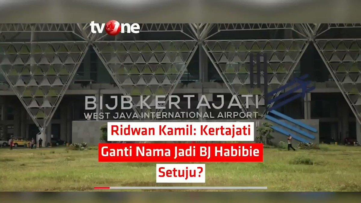 RIDWAN KAMIL: KERTAJATI GANTI NAMA JADI BJ HABIBIE, SETUJU?Gubernur Jawa Barat (Jabar) Ridwan Kamil meminta pendapat warganya mengenai rencana mengganti nama Bandara Internasional Jawa Barat (BIJB). Nama yang dipertimbangkan adalah B.J Habibie.#NewsOne #RidwanKamil #BJHabibie