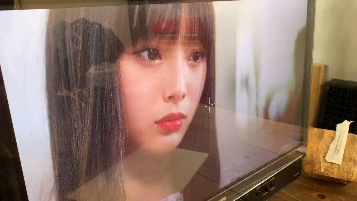 #ジュゴンはジュゴン のMV撮影中のここなたん🍡🐰モニター前でずっと愛でてました