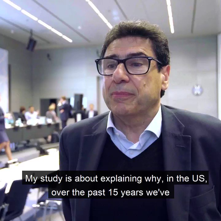 What impact do superstar firms have on the economy? Philippe Aghion of the London School of Economics told us about his work on this topic at our Annual Research Conference. Check out our website for all the research presented at the conference https://www.ecb.europa.eu/pub/conferences/html/20190905_4th_ecb_annual_research_conference.en.html …