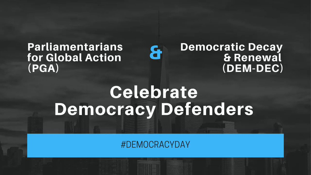 "#DemocracyDay Series | Day 5 Why democracy? ""Because [of our] duty to achieve #JusticeForAll, not only for self."" 👉Today: Hon. @ToumaNjai, member of the National Assembly of The #Gambia 🇬🇲 and @ECOWASParliamnt, and PGA member."