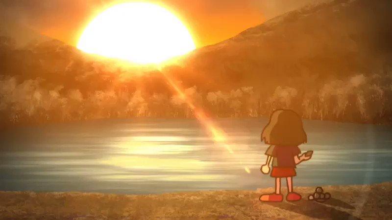 「思いっきり水切りしたら石が魚になった」というお題で作っただけのアニメ
