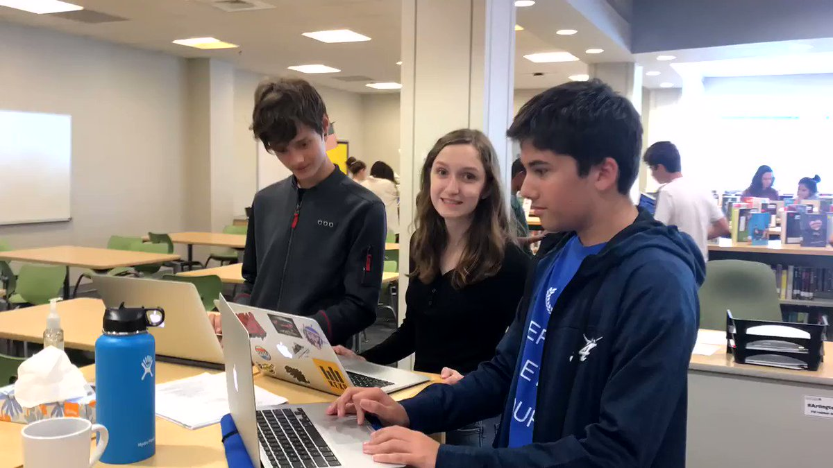 Ninth graders having fun <a target='_blank' href='http://twitter.com/WL_Library'>@WL_Library</a> while learning about all the library has to offer.  <a target='_blank' href='http://twitter.com/APSLibrarians'>@APSLibrarians</a> <a target='_blank' href='http://twitter.com/GeneralsPride'>@GeneralsPride</a> <a target='_blank' href='https://t.co/icAHjZRNiC'>https://t.co/icAHjZRNiC</a>