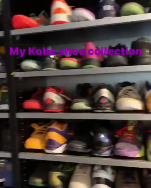 Dwight Howard shows off his extensive Kobe Bryant shoe collection