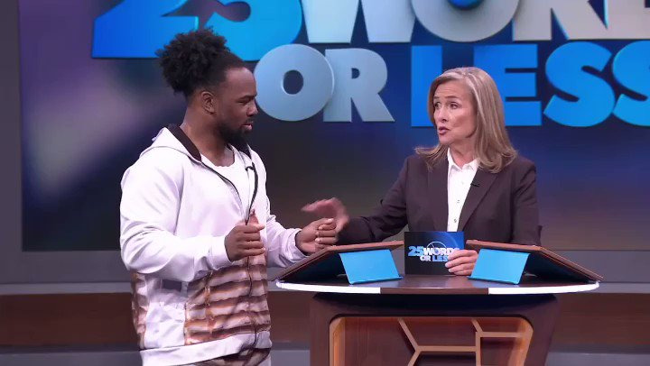 It's @TrueKofi and @XavierWoodsPhD vs. @WWEApollo and @AliWWE on @25wordsorlesstv! Do they have what it takes to help their teammate win $10,000? Find out tomorrow! Go tohttp://www.25words.com for local listings.#wwe #25wordsorlesstv