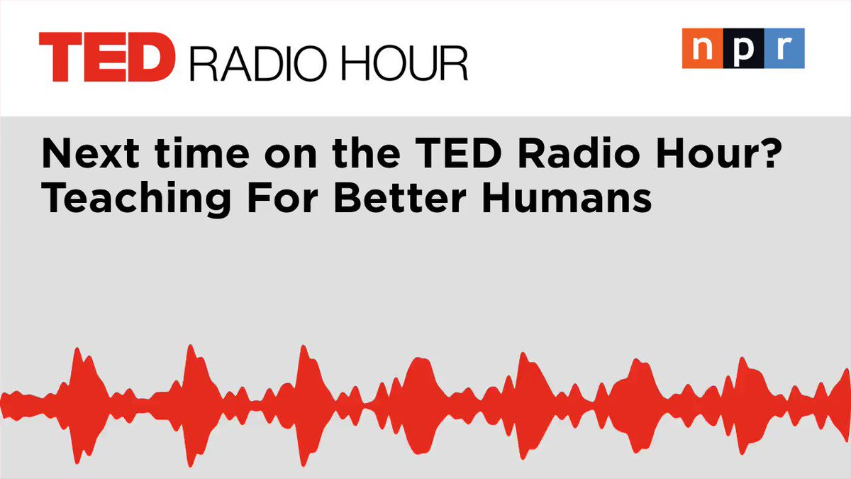 New episode out tomorrow! Guest host Manoush Zomorodi (@manoushz) talks to #TED speakers about teaching for better humans.