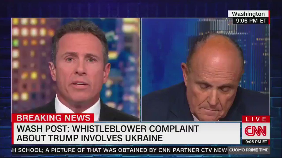 Rudy Giuliani: I never asked Ukraine to investigate Joe Biden. Rudy Giuliani 8 seconds later: Of course I asked Ukraine to investigate Joe Biden!