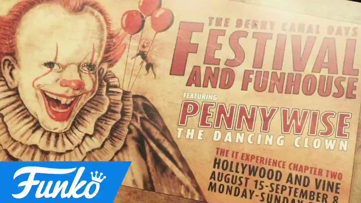 Sights & sounds from the #ITChapterTwo pop-up, featuring everyone's favorite clown - Pennywise! #ITMovie