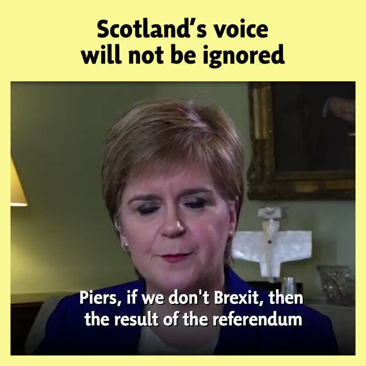 """@NicolaSturgeon 🚨 40 days till Brexit 🚨 👇 @NicolaSturgeon was told that Scotland's democratic will """"doesn't matter"""", and she was having none of it. 🏴 Scotlands voice will not be ignored."""
