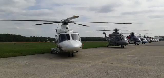 Stunning display of #AW139 helicopters #SimplyNoRivals #Grazie1000