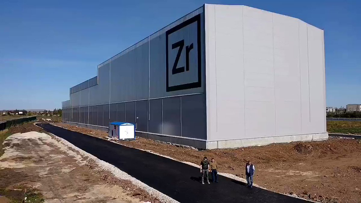 Image for the Tweet beginning: #ZrCoin factory is ready to