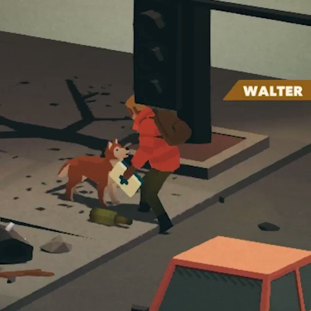 You can pet the dog and then give them a hat and a knife in Overland