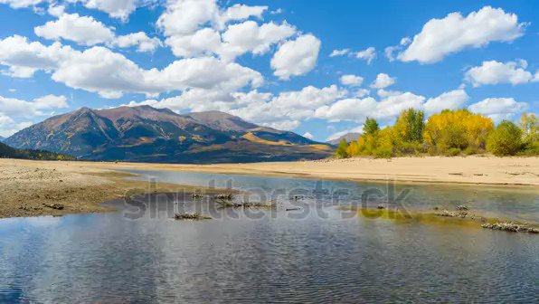 #beautiful #Autumn #Mountain #Lake - A #panoramic time-lapse #video of clouds passing over #TwinLakes at base of two highest #peaks, #MountElbert & #MountMassive, of #RockyMountains a sunny #AutumnDay. CO, #USA#writing ✍️(https://www.fiverr.com/share/BVxAk )  (https://www.fiverr.com/share/L5jPQ )
