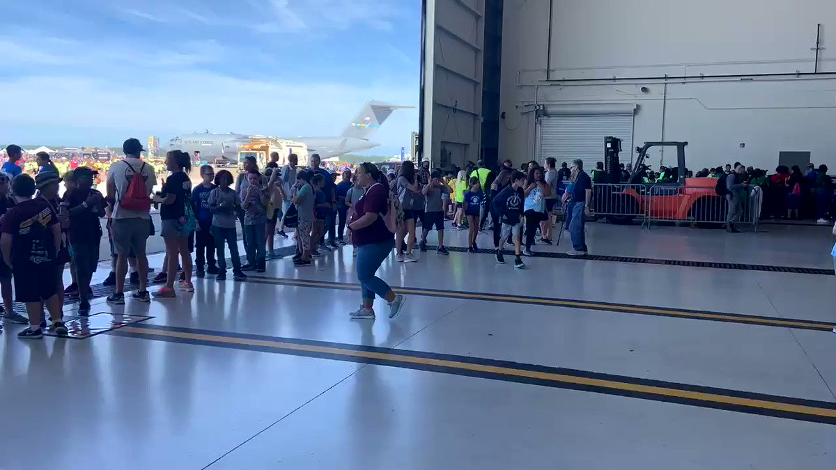 It's #STEM Day at the NAS Oceana Air Show!✈️ Students across Hampton Roads are speaking with NASA Langley researchers to learn more about our work in @NASAaero, @NASA_Technology and @NASAEarth. Our @NASAExhibit will be here all weekend! Info: oceanaairshow.com