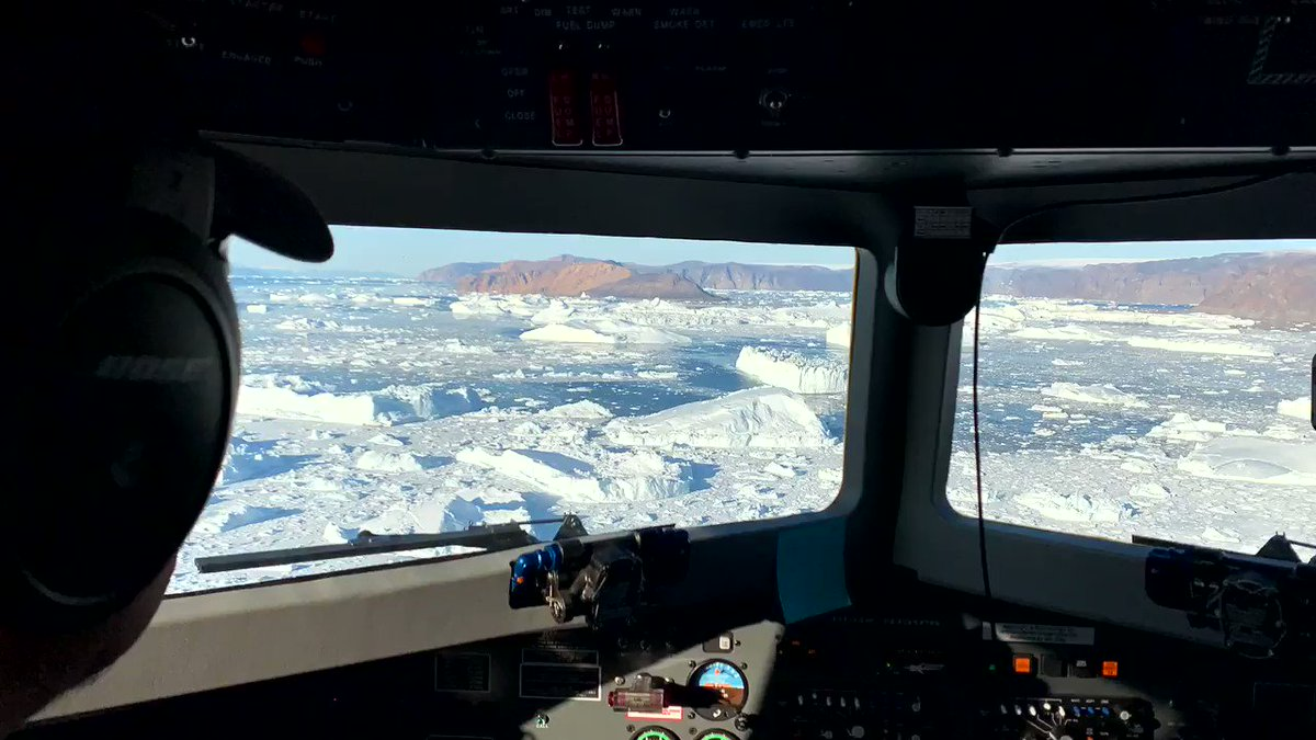 #ICYMI: @NASAs Oceans Melting Greenland (OMG) mission just finished their 2019 ocean 🌊survey. The airborne team dropped 285 probes to measure ocean temperature & salinity. This data will help researchers understand the role that the ocean plays in melting Greenland's glaciers.