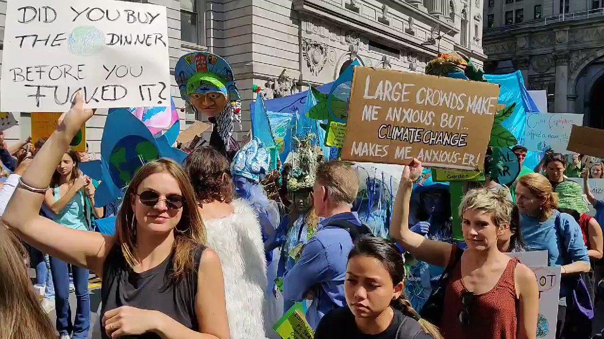 #GlobalClimateStrike in #NYC #ClimateStrike