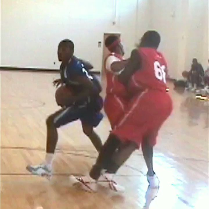 .@johnwall getting the defender to block for him. #hoopmixtape Throwback to before John was nationally ranked.
