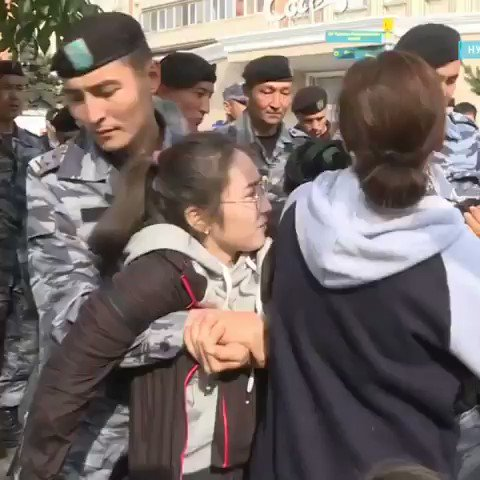 """NOT JUST #HONGKONG Protests are breaking out ALL OVER #Kazakhstan to oppose #ChineseExpansion. #China's imprisoning #Kazakhs in its #ConcentrationCamps (alongside #Uyghurs, et al.) in #EastTurkistan (""""#Xinjiang"""") & Chinese workers are taking Kazakh jobs."""