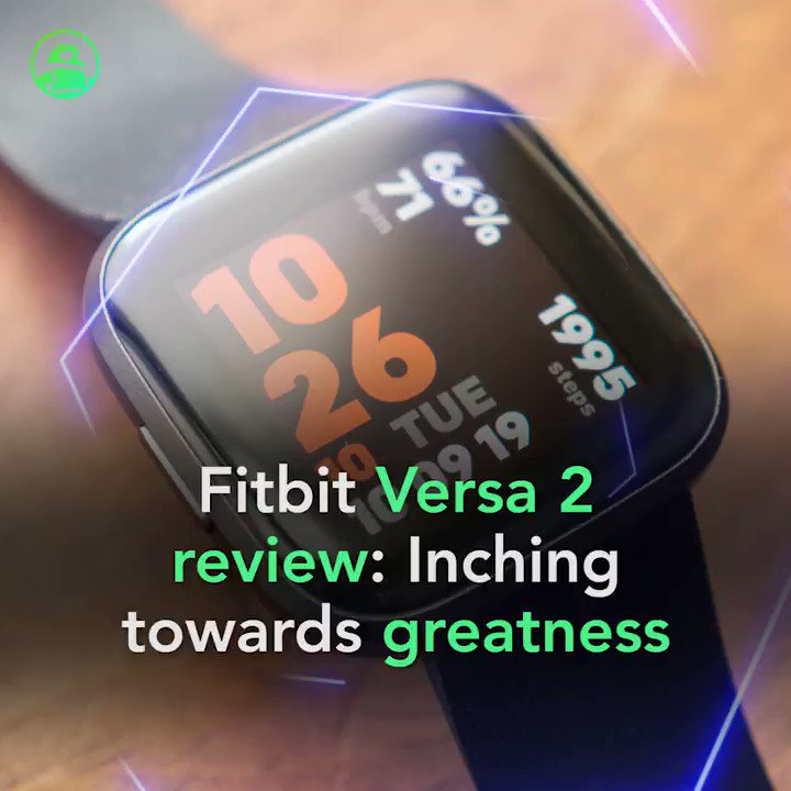 Image for the Tweet beginning: Fitbit Versa 2 review: Inching
