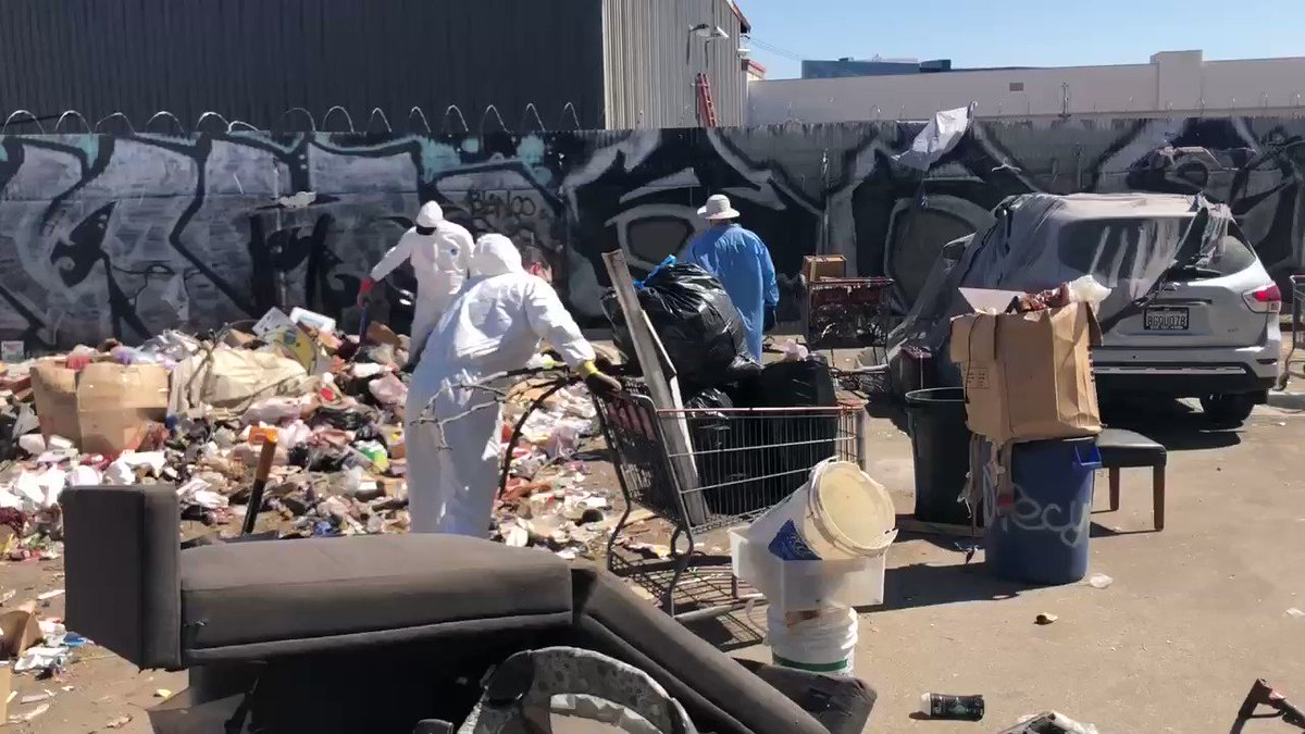 This weekend Trump supporters volunteered their time to clean up a Democrat city  Media silent  While the left pretends to care about the climate they aren't cleaning up streets, instead they are using children as political tools  Make this go viral.