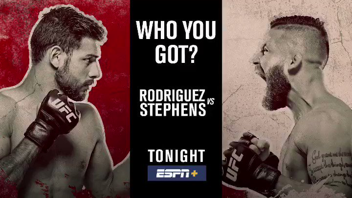 Who u got tonight?   Yair vs Stephens LIVE at 8pm ET on @espn+
