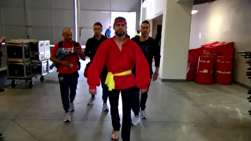 Yair has arrived to the arena!!! #UFCMexico