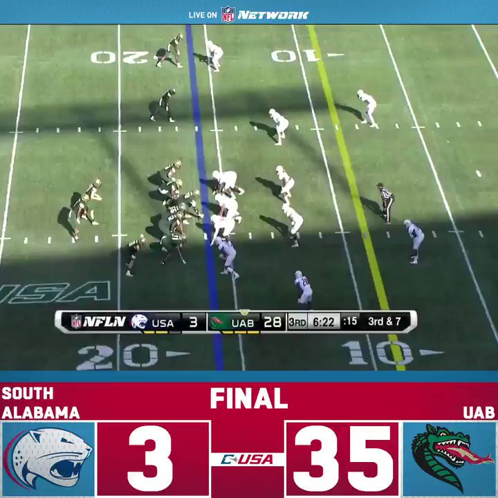 That marks the 14th straight victory at home for @UAB_FB! Check out the fifth and final TD they scored in todays game 👇 📺: @ConferenceUSA on NFL Network every Saturday