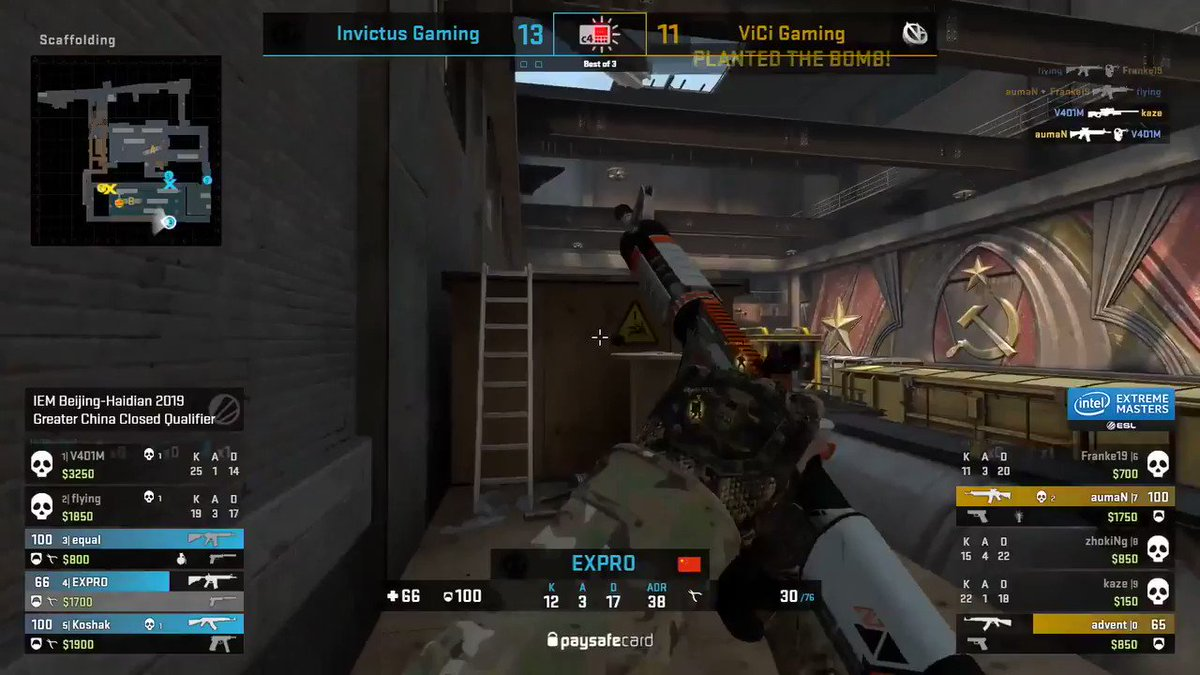 Image for the Tweet beginning: Auman with the 1v3 ACE