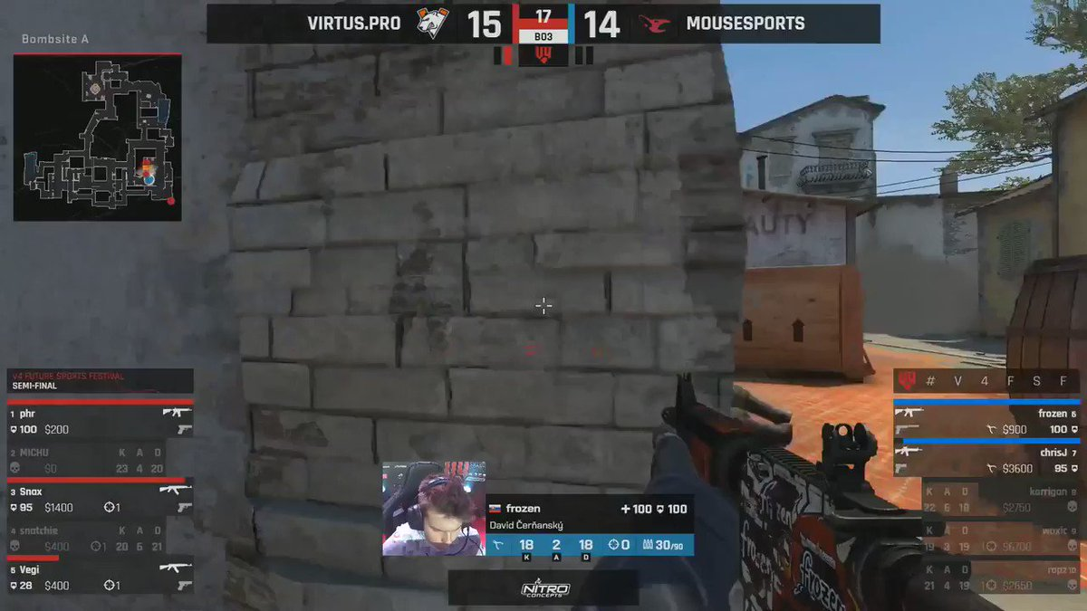 WOW! @virtuspro take down @mousesports 2-0 and are through to the #V4FSF Grand-Final! 😱 Is this 2013? 👀