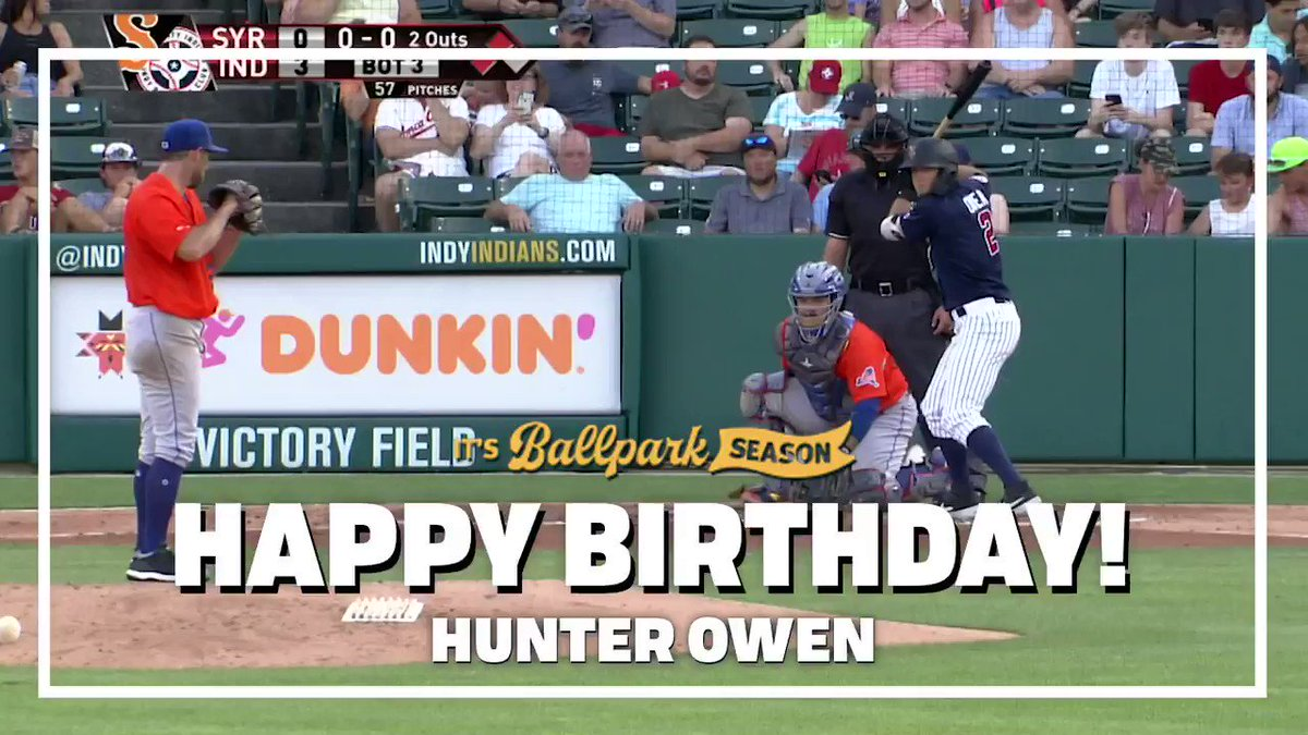 Hey @Hunter_Owen11, we hope your birthday is a home run! Happy birthday. #RollTribe