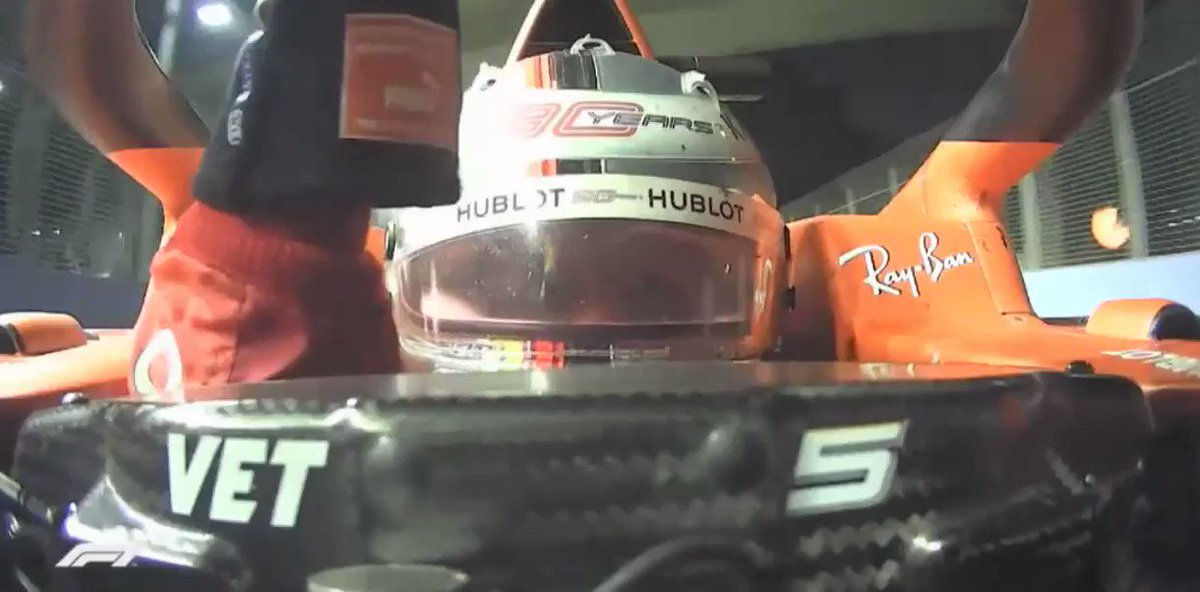 Grazie Ragazzi team radio is back!!! #SingaporeGP #Vettel #Seb5 #F1