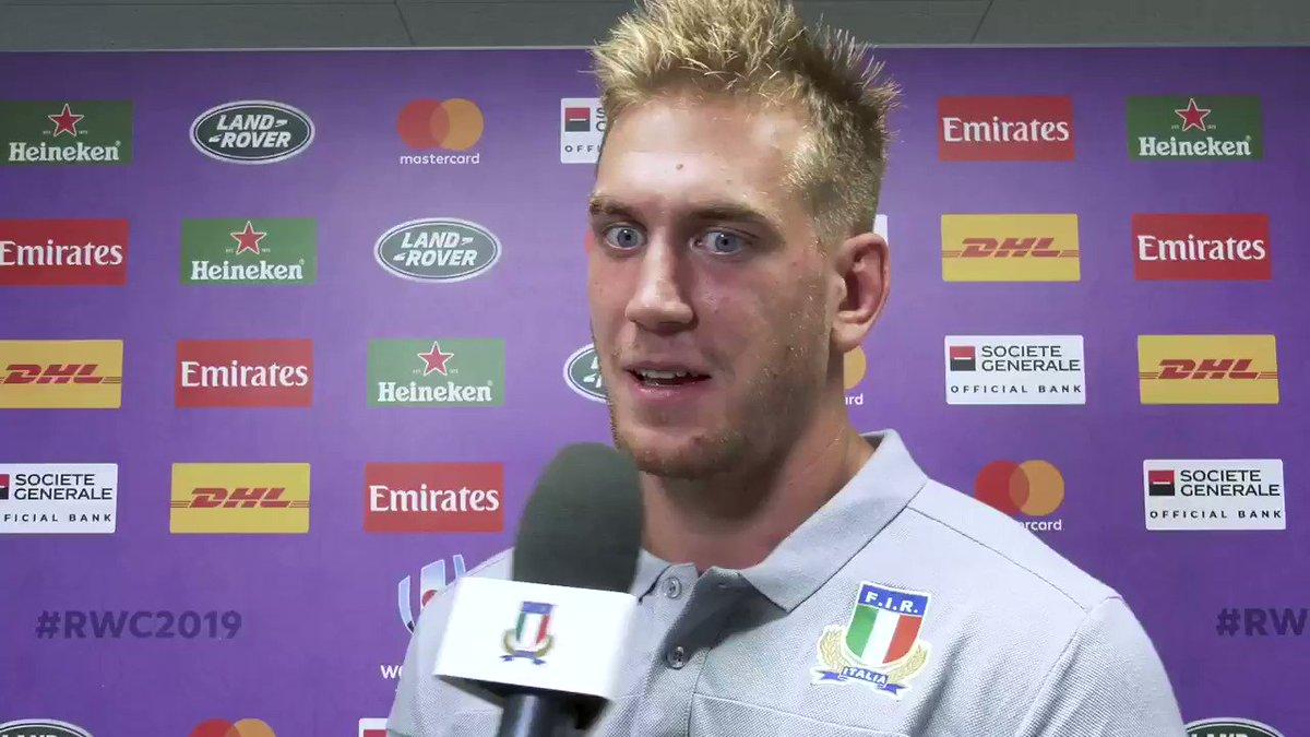 #ITAvNAM 🎥 Federico #Ruzza sull'esordio nella #RWC2019, gli obiettivi per i prossimi appuntamenti del Mondiale e le emozioni condivise con la sua famiglia #insieme #rugbypassioneitaliana