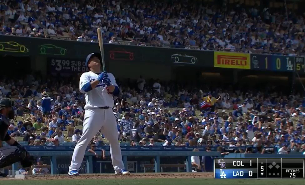 Ryu's Home Run (Dodgers broadcast).  Joe Davis & Orel Hershiser joking that Ryu was gonna hit a HR...and then he does. 😂