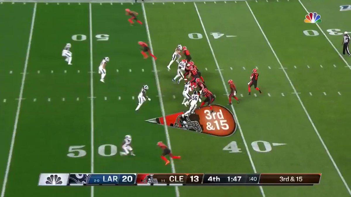 WOW, WOW, WOW... QUE FINAL!  #NFLnaESPN #NFL100 #Browns #LARams