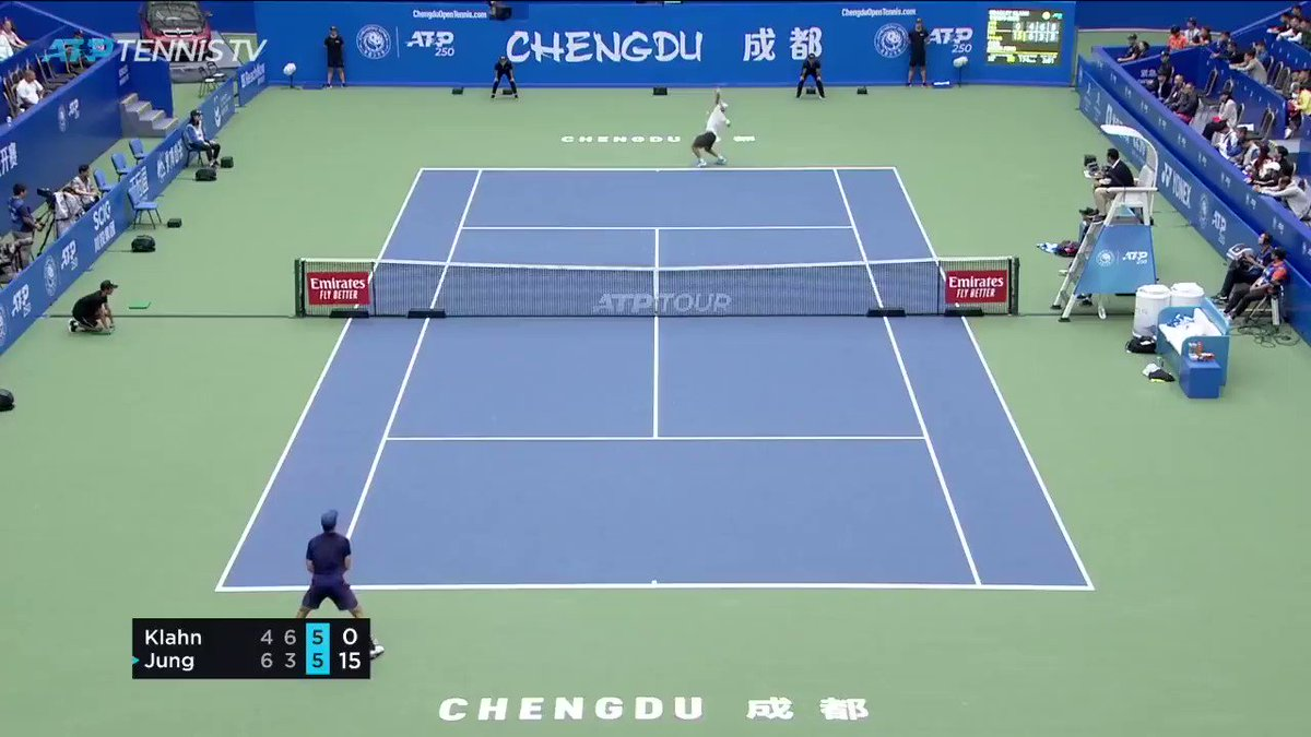 #ATPTour How good is this from jasonjungtennis!?! 😅  Watch the ChengduOpen on TennisTV 👊