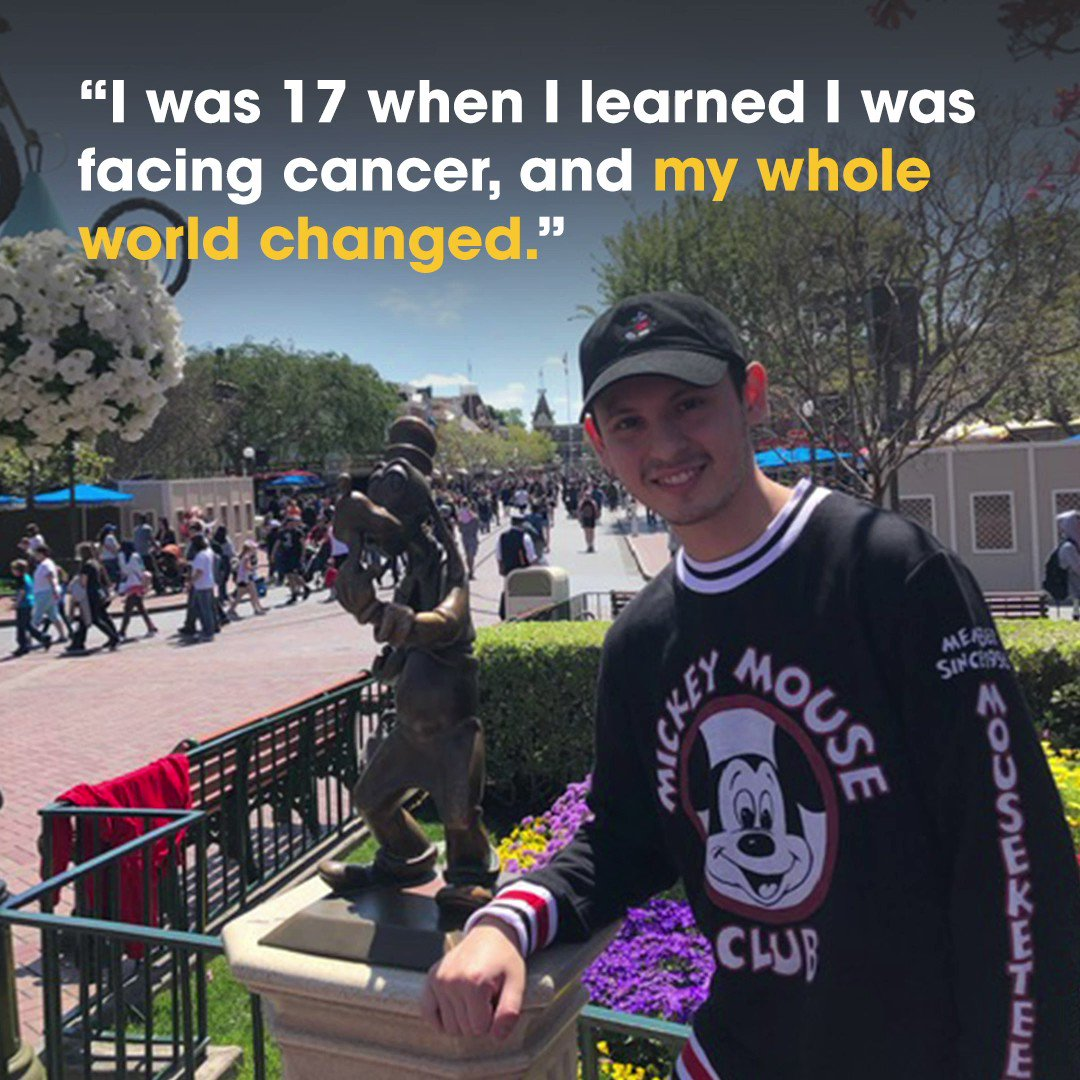 Meet David, a young adult cancer survivor who is celebrating being 5 years cancer-free today! He shares his story and how he discovered a community of support through a free app called @ShadowsEdgeGame. #StandUpToCancer