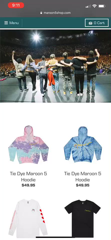 Replying to @maroon5: NEW MERCH ALERT! Grab some new #M5Memories pieces at our store today!