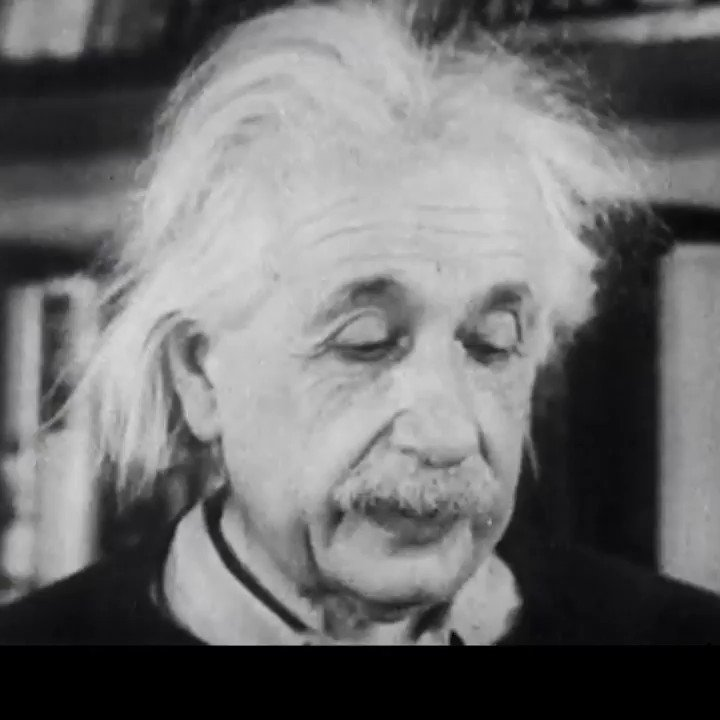 Replying to @ValaAfshar: It is incredible to hear Albert Einstein's voice as he explains his famous formula, E=mc²