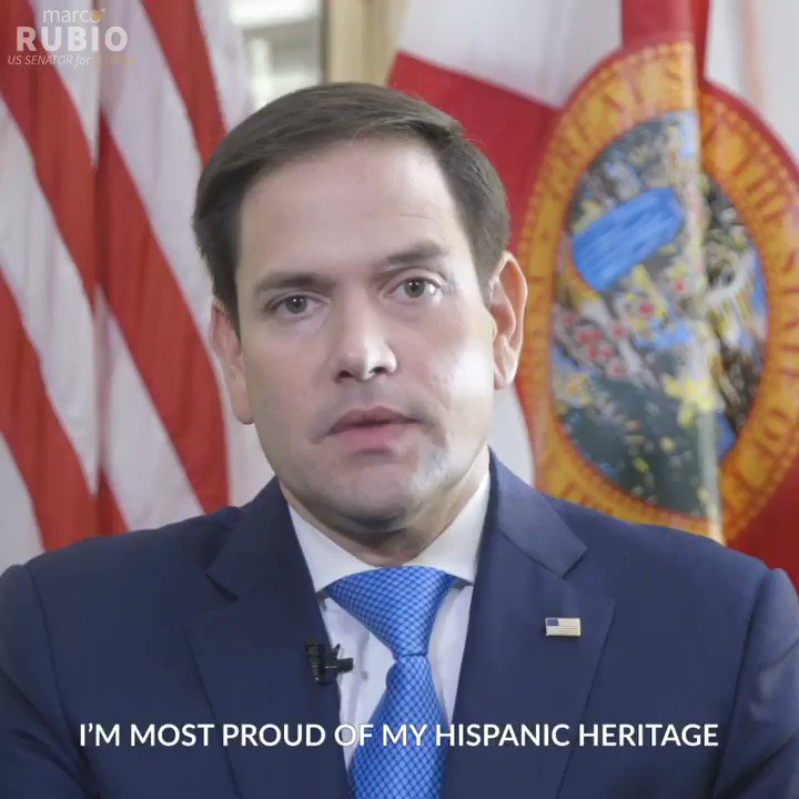 During this #HispanicHeritageMonth, Senator Marco Rubio highlights the importance of being a Hispanic American and the role his Hispanic background has played throughout his life. Watch the first video here 👇🏽: