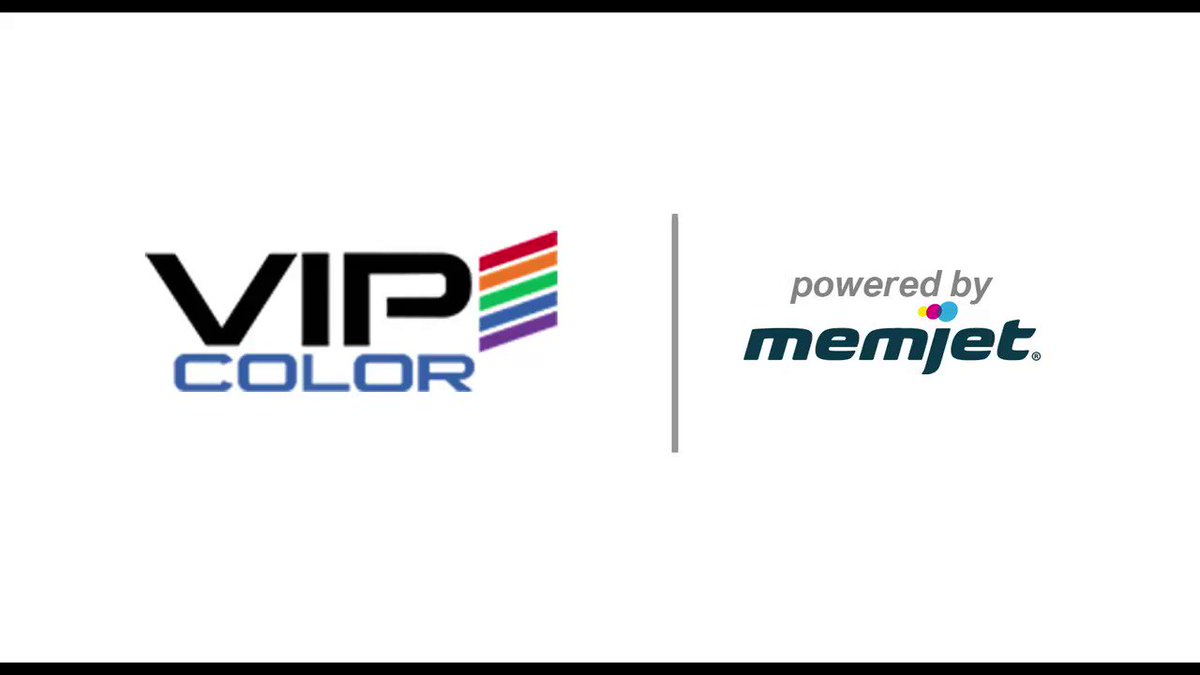 Image for the Tweet beginning: Powered by Memjet, @VIPColorUSA at