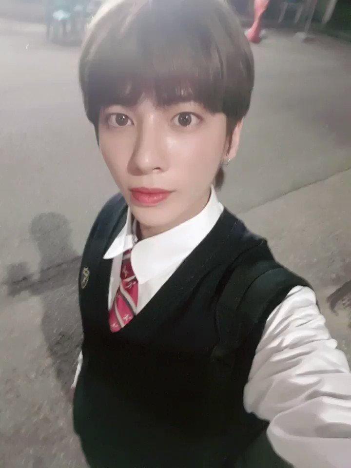 쨘 춘추복 입어써요❣ 모아 저녁 먹어써요??? #태현 #Taehyun