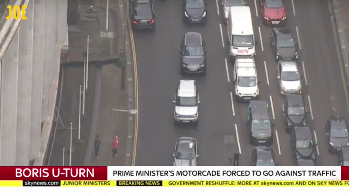Boris Johnson literally going the wrong way down a one way street. @DaftLimmy 👀