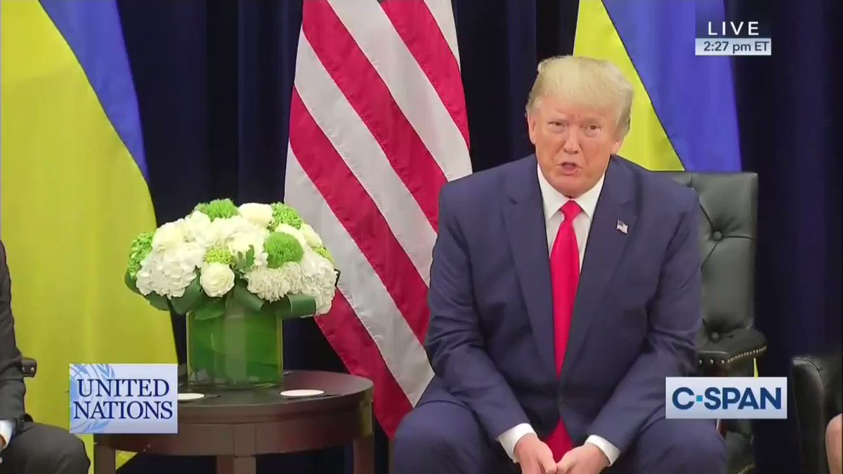 Heres Trump urging the Ukrainian president to investigate Biden right out in the open, on camera. Totally shameless.