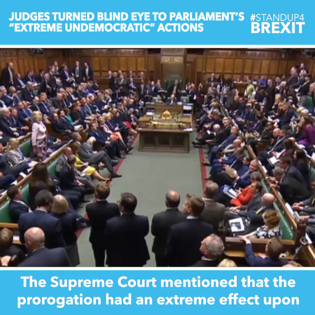"""""""The Supreme Court mentioned that the prorogation had an extreme effect upon the fundamentals of our democracy. Does my Rt Hon friend accept it is more than an extreme and undemocratic effect for Parliament itself to tear up its own Standing Order 14?"""" @BillCashMP"""