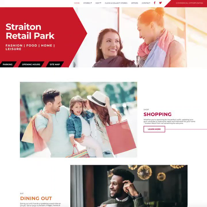 Image for the Tweet beginning: #StraitonRetailPark website is now live!
