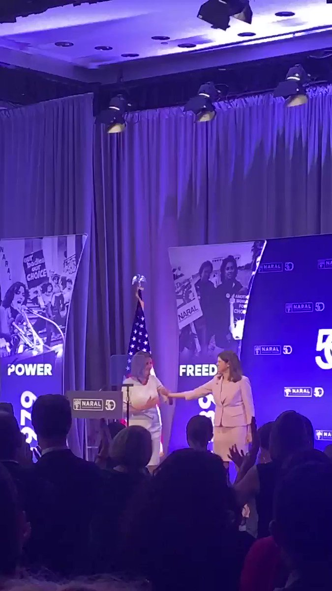So President Pelosi is here and received a long standing ovation.@SpeakerPelosi is a lifelong champion of women's healthcare and repro rights. Thank you, Madame President. (And thank you @tracysefl for taking me as your date.) #NARAL50